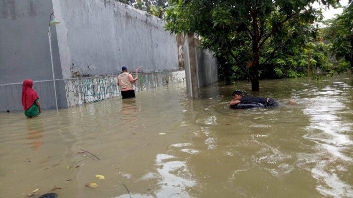 Puluhan Rumah di Kota Pamekasan Terendam Air