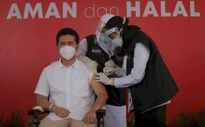 Sebanyak 21 Tokoh di Jatim Terima Vaksin Perdana